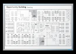 Accenture Floor Plan Dry Erase Board