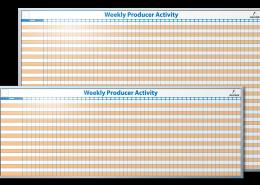 Aerotek Weekly Production Activity Tracker Dry Erase Board