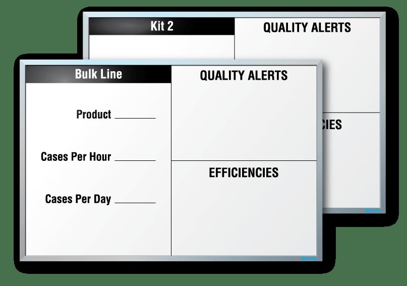 BG Products Metric Tracker Dry Erase Board