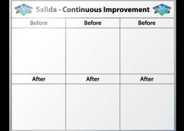 Blue Diamond Continuous Improvement Dry Erase Board 48