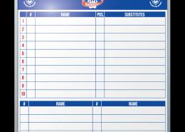Boyertown Bear Cubs Baseball Lineup Chart Dry Erase Board