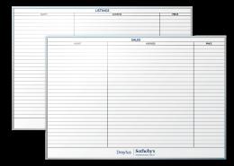 Dreyfus Sothebys Sales Tracking and Listing Tracking Dry Erase Boards