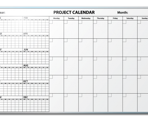 Falken Tires Project Tracking Calendar Dry Erase Board