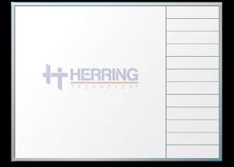 Herring Technology Logo & Gridline Combo Dry Erase Board