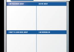 Inactic Employee Profile Dry Erase Board