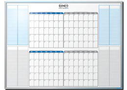 Infiniti Payroll Customized 4-Month-At-A-Glance Dry Erase Board