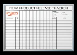 InJen Technologies New Item Release Tracker Dry Erase Board 24