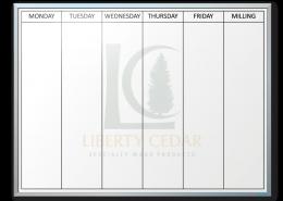 Liberty Cedar Week-At-A-Glance Dry Erase Board