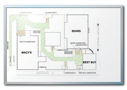 Macerich Co. Shopping Mall Floor Layout Dry Erase Board