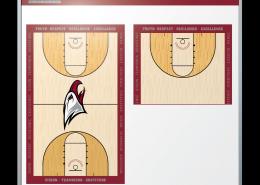 North Carolina Central University Women's Basketball Coaching Staff Dry Erase Board
