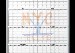 NYC Elite Gymnastics Customized Year-At-A-Glance Dry Erase Board