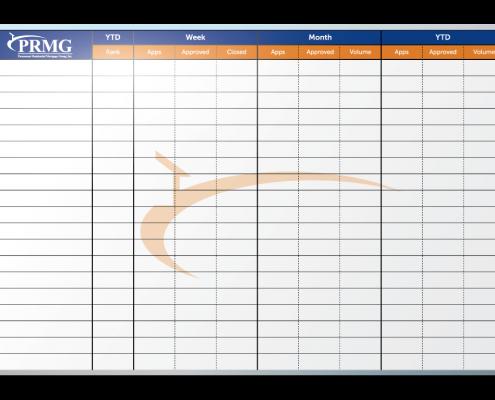 PRMG Sales Tracker Dry Erase Board