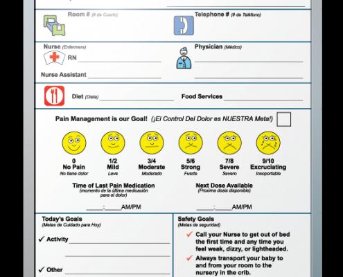 "Pella Regional Health Patient Tracker Dry Erase Boards 18"" x 24"""