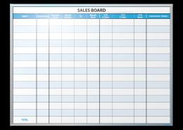 Real Estate Market Experts Sales Tracking Markerboard