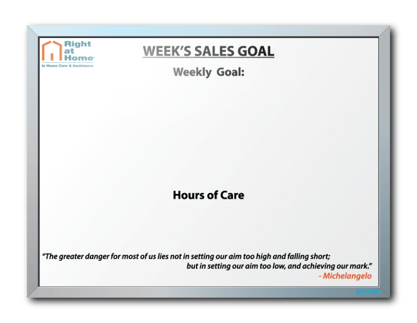 Right Home Weekly Sales Goals