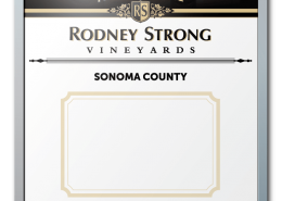 Rodney Strong Vineyards Wine Listing Dry Erase Board