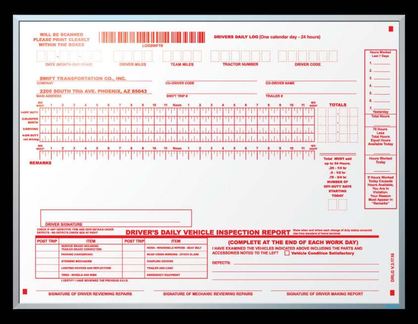Swift Driving Academy Log Sheet Information Dry Erase Board