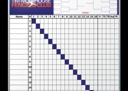 Tim Morehouse Fencing Club Scoreboard Dry Erase Board 48