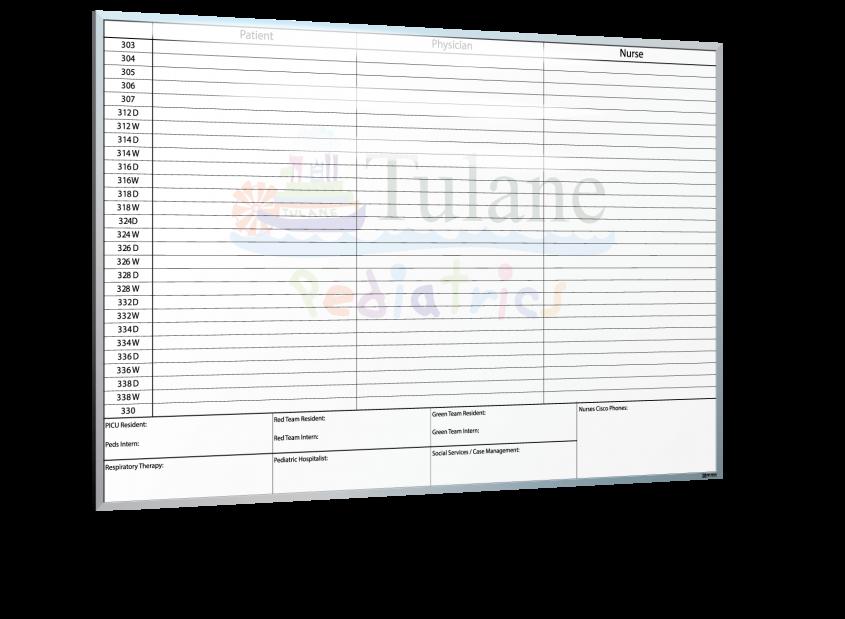 Tulane Lakeside Pediatrics Whiteboard