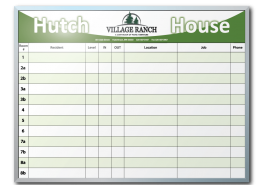 Village Ranch Room Tracker Dry Erase Board